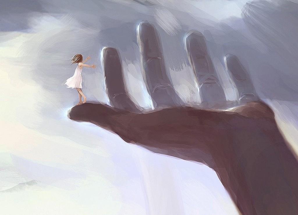 Девочка на руке